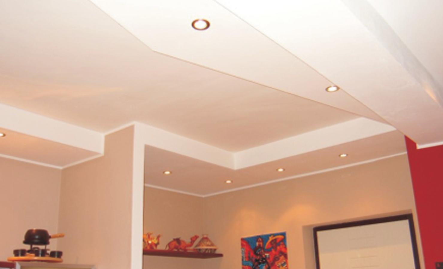 Потолок в зале из гипсокартона фото своими руками